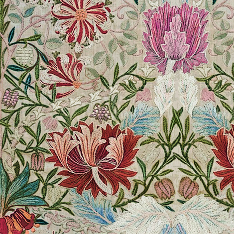 Honeysuckle Embroidery fabric by chantal_pare on Spoonflower - custom fabric