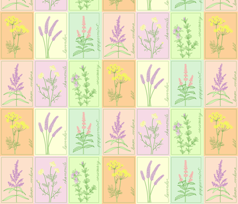 Herb Garden Cheater quilt fabric by michellez on Spoonflower - custom fabric