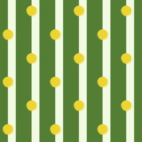 umpire's call: tennis ball on the line, inbounds or out?  fabric by lisakling on Spoonflower - custom fabric