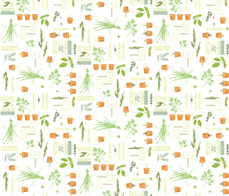 Ready. Set. Plant! fabric by elotopia on Spoonflower - custom fabric