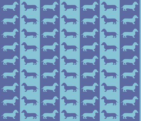 dachshund blues fabric by jenr8 on Spoonflower - custom fabric