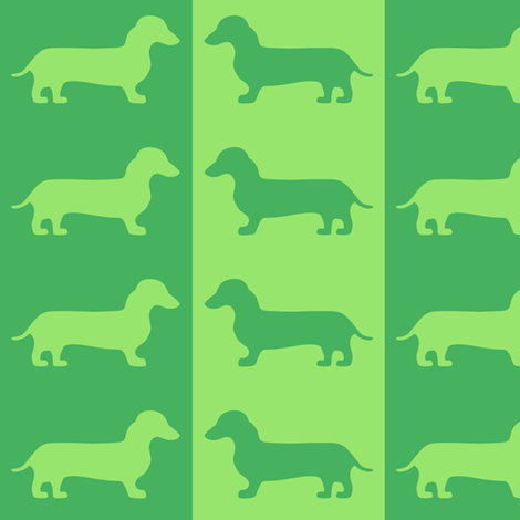 dachshund envy fabric by jenr8 on Spoonflower - custom fabric