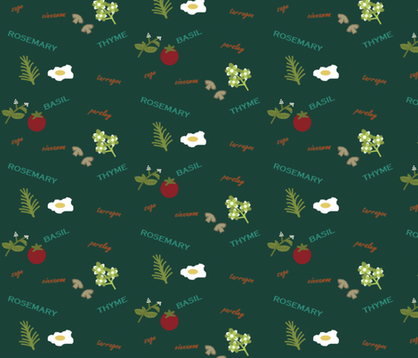 Collection_d_Herbs fabric by topmosttower on Spoonflower - custom fabric