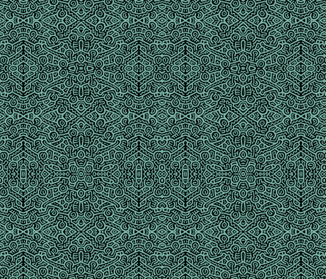 My Tribe teal fabric by whimzwhirled on Spoonflower - custom fabric
