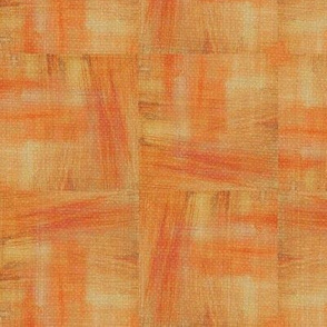 Brush Strokes - orange, red, yellow, off white