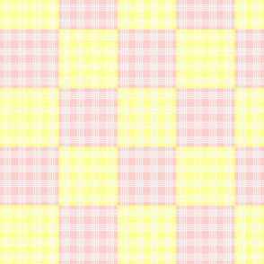 New shabby Pink and Yellow Cheater Quilt