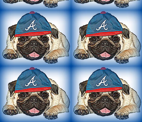 Baseball Pug fabric by mccormickcairns on Spoonflower - custom fabric