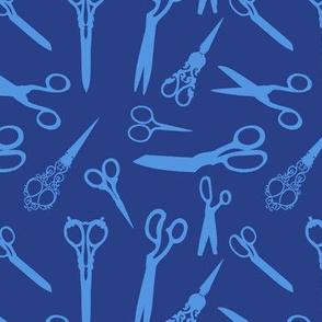 scissors blue