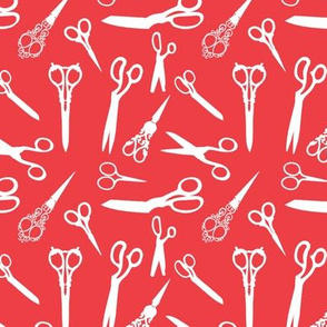 scissors red