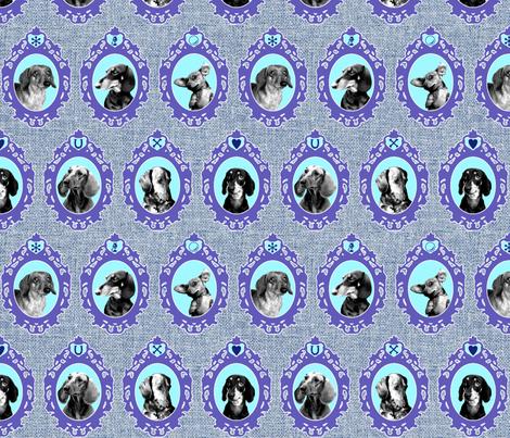 dachshund cameos fabric by jenr8 on Spoonflower - custom fabric