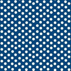 Pretty Polka Dots in Navy