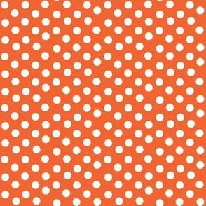 Pretty Polka Dots in Tangerine