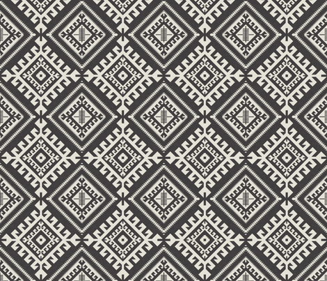 shakami_black fabric by holli_zollinger on Spoonflower - custom fabric