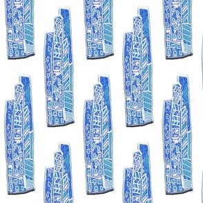 Wacky Town in Blue