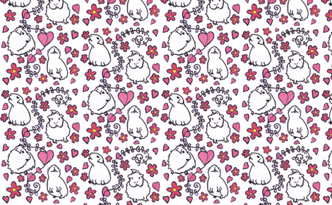 Guinea pig folk fabric by sallysfabrics on Spoonflower - custom fabric