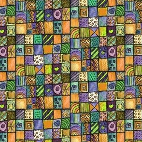 Seamless Patchwork Drawings