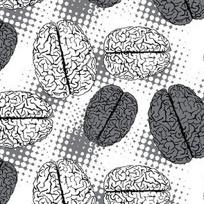 Brains on dots black&white