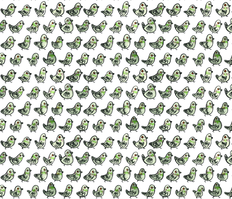 Pigeons! (small) fabric by chriscalmdown on Spoonflower - custom fabric