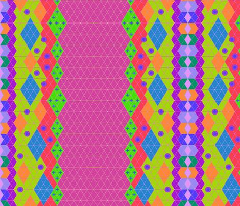 Quetzalcoatl cosmic stripe bright fabric for Cosmic print fabric