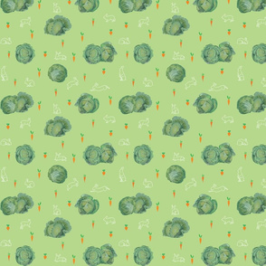 Light Green Cabbages and Rabbits