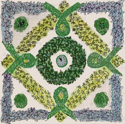 Herb knot garden i fabric lisakling spoonflower for Herb knot garden designs
