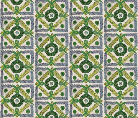 Herb knot garden i fabric lisakling spoonflower for Knot garden designs herbs