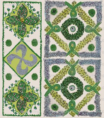Herb knot garden fabric lisakling spoonflower for Herb knot garden designs