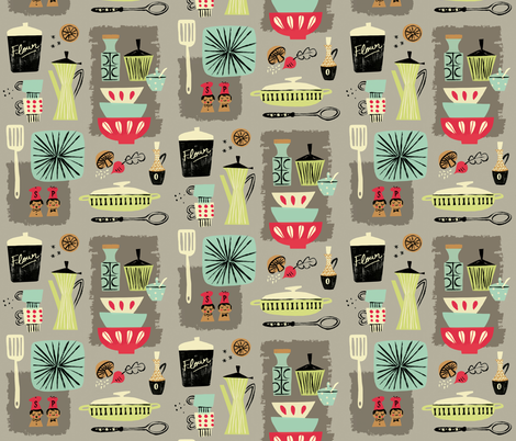 kitchenette fabric by neryl on Spoonflower - custom fabric