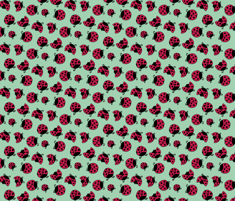 Lady Beetle fabric by louiseharris on Spoonflower - custom fabric