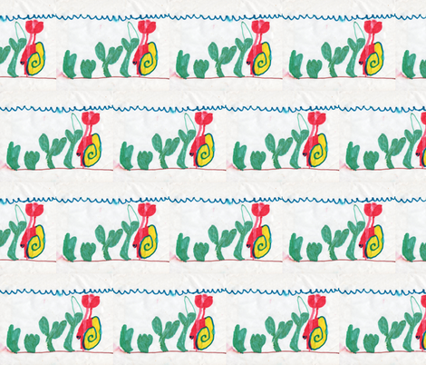 David's drawing of Red Hermit Crab sized for fat quarter and yard  fabric by clotilda_warhammer on Spoonflower - custom fabric