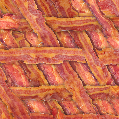 Bacon Weave fabric by lafleur on Spoonflower - custom fabric