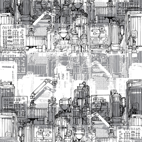 the_lab fabric by susiprint on Spoonflower - custom fabric
