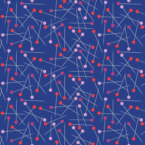 pins blue fabric by vickythorndale on Spoonflower - custom fabric