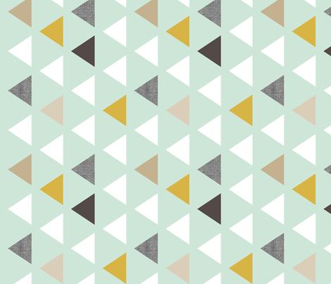 mod mint triangles 90 deg fabric by mrshervi on Spoonflower - custom fabric