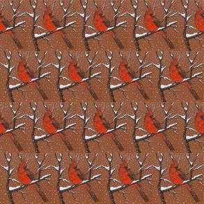 Cardinal in Storm