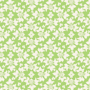 Lime Green Damask