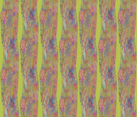 Ghana Textured Columns Batik on Yellow Green fabric by bloomingwyldeiris on Spoonflower - custom fabric
