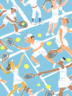 Tennis Whites Watercolor