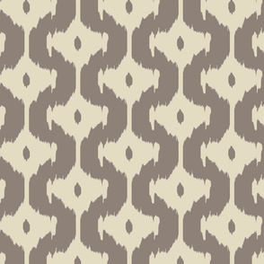 Ikat offset diamonds - taupe/sand