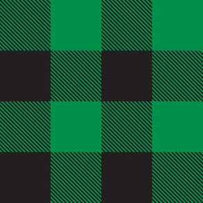 tartan green black