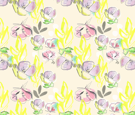 Femme Florale fabric by makewells on Spoonflower - custom fabric