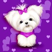 Maltese purple hearts