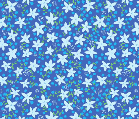 fleur 1 midnight fabric by jenniferpanepinto on Spoonflower - custom fabric