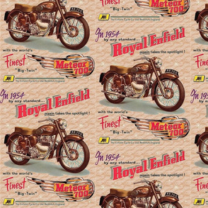 Royal Enfield Meteor 700 1954 poster