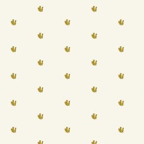 Gold BeeBalm Toile Coordinating Fabric