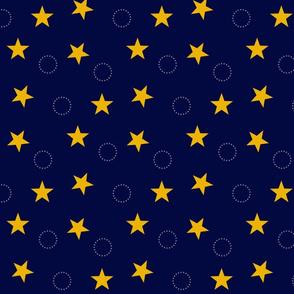 Navy & Gold Stars