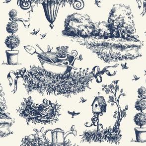 Garden Toile - Blue