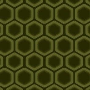 Fading Green Honeycomb