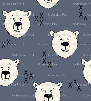 Polar Bear // dark blue