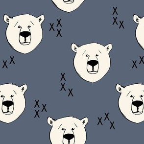 Polar Bear // dark blue